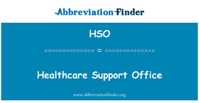 HSO: Oficina de apoyo sanitario