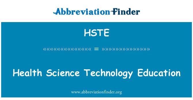 HSTE: Pendidikan teknologi Sains Kesihatan