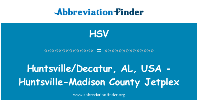 HSV: Huntsville/Decatur, AL, USA - Huntsville-Madison County Jetplex