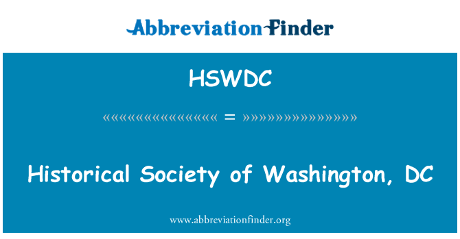 HSWDC: Historical Society of Washington, DC