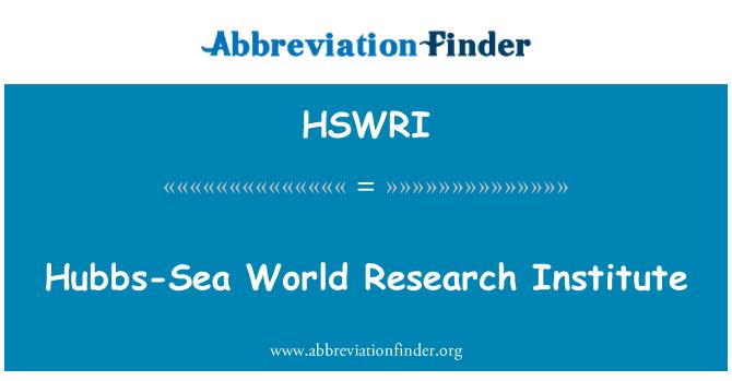 HSWRI: 霍布斯海世界研究所