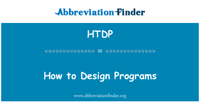 HTDP: How to Design Programs