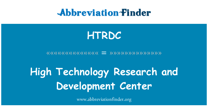 HTRDC: High Technology Research and Development Center