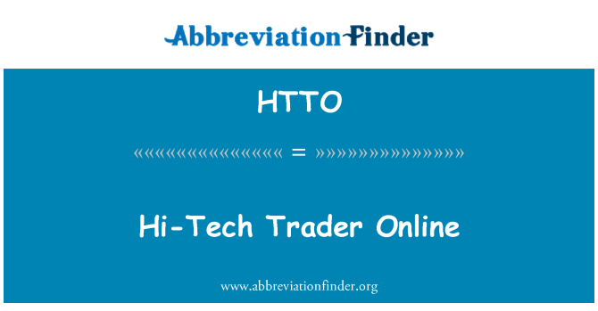 HTTO: Hi-Tech Trader Online