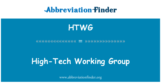 HTWG: Tehnološki radne grupe