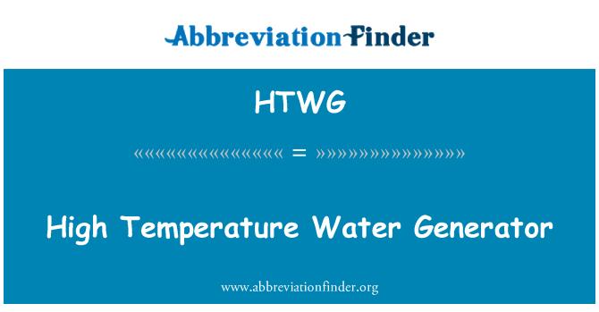 HTWG: Visoka temperatura vode Generator