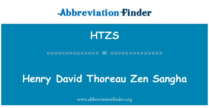 HTZS: Henry David Thoreau Zen Sangha