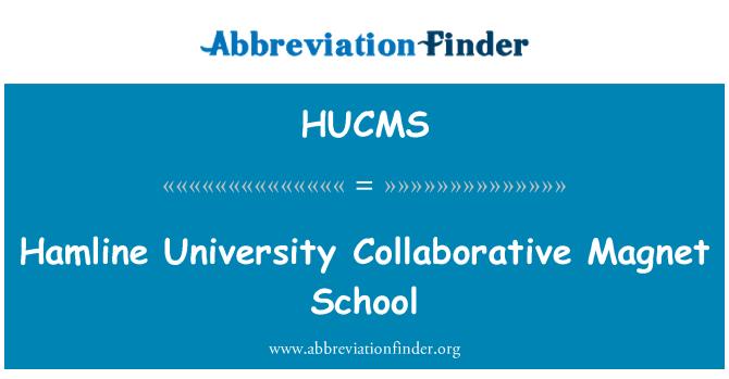 HUCMS: Hamline University Collaborative Magnet School