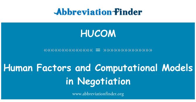 HUCOM: İnsan faktörleri ve sayısal modeller satışda