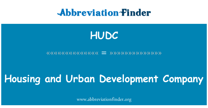 HUDC: Housing and Urban Development Company