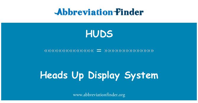 HUDS: Heads Up Display sistem