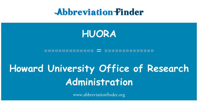 HUORA: Oficina de la Universidad de Howard de investigación administración