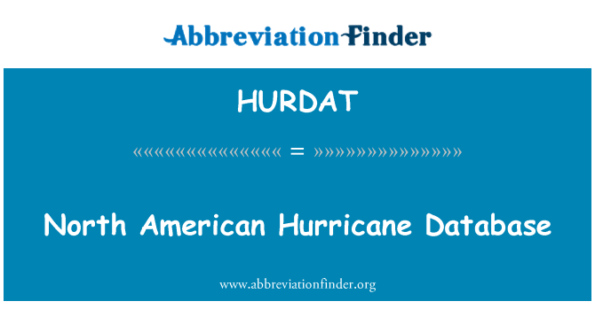 HURDAT: North American Hurricane Database