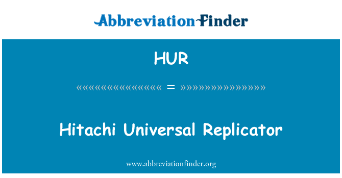 HUR: Hitachi Universal Replicator