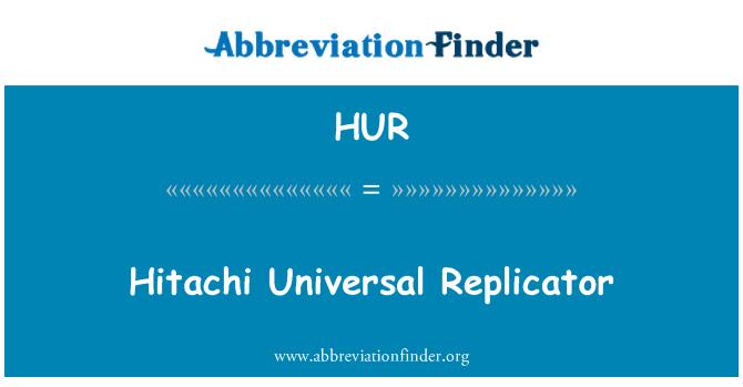 HUR: هيتاشي العالمية وحدة النسخ المتماثل