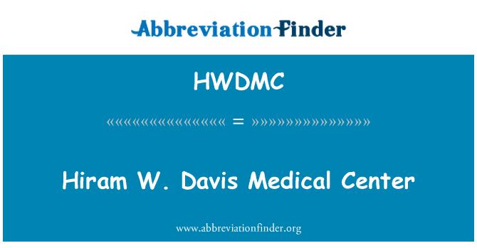 HWDMC: Hiram W. Davis Medical Center