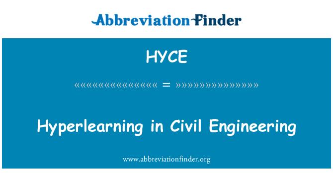 HYCE: Hyperlearning in Civil Engineering