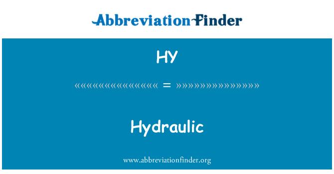 HY: Hydraulic