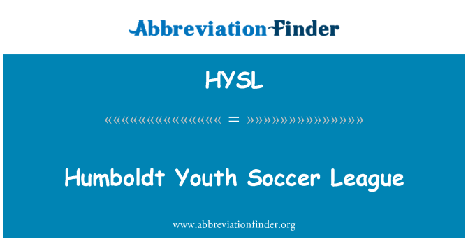 HYSL: Humboldt Youth Soccer League