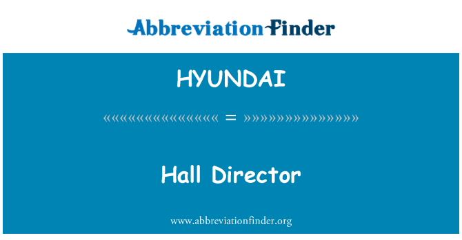 HYUNDAI: Directora