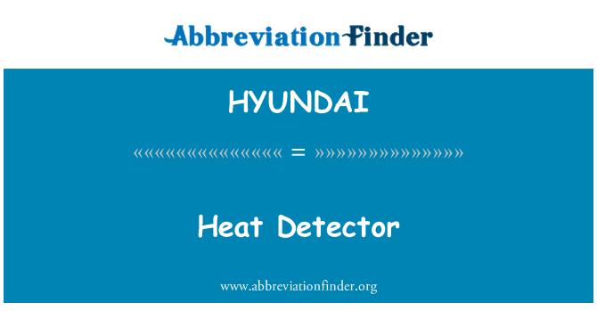 HYUNDAI: Detector de calor