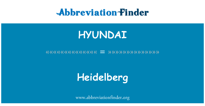 HYUNDAI: Heidelberg