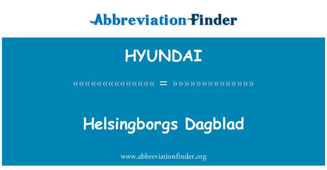 HYUNDAI: Helsingborgs Dagblad