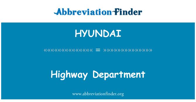 HYUNDAI: Departamento de la carretera