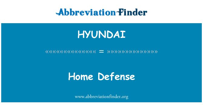 HYUNDAI: Defensa local