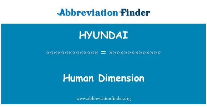 HYUNDAI: Dimensión humana