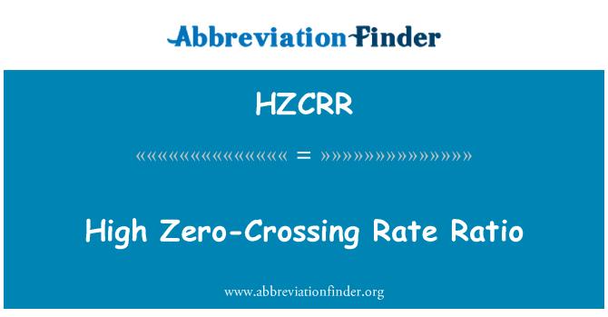 HZCRR: Alta proporción de la tasa de cruce por cero