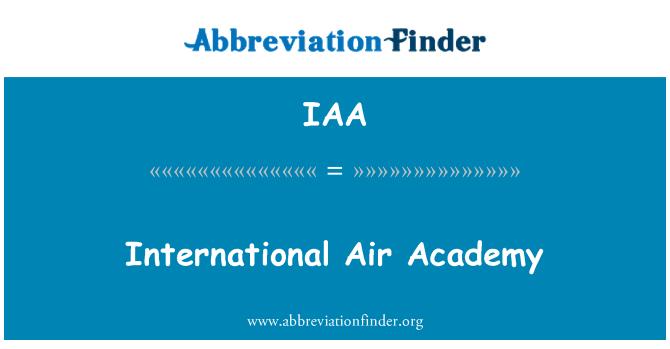 IAA: International Air Academy