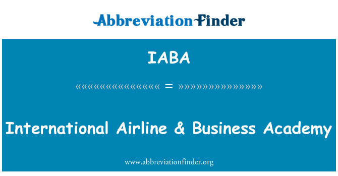 IABA: International Airline & Business Academy