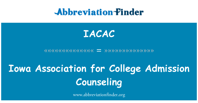 IACAC: Iowa Association for College Admission Counseling