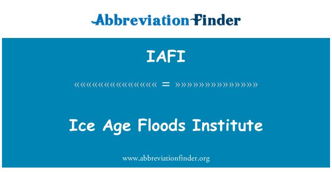 IAFI: Edad de hielo inundaciones Institute