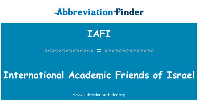 IAFI: Amigos académicos internacionales de Israel