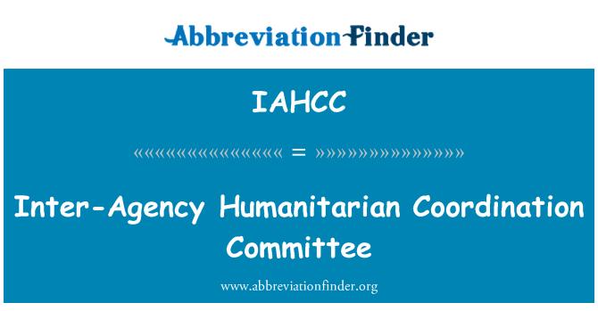 IAHCC: Comité interinstitucional de coordinación humanitaria