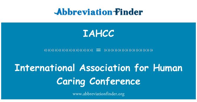 IAHCC: İnsan bakım konferans Uluslararası Derneği