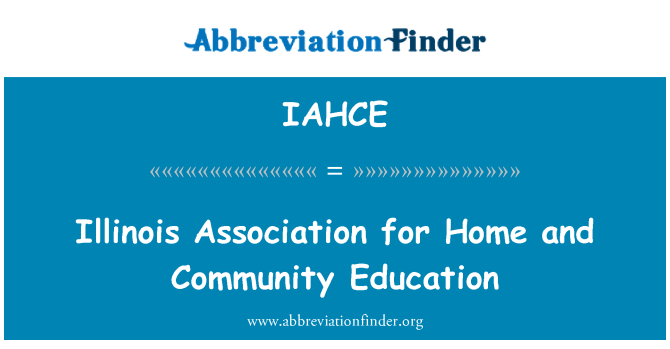 IAHCE: Illinois Association for Home and Community Education
