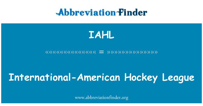IAHL: International-American Hockey League
