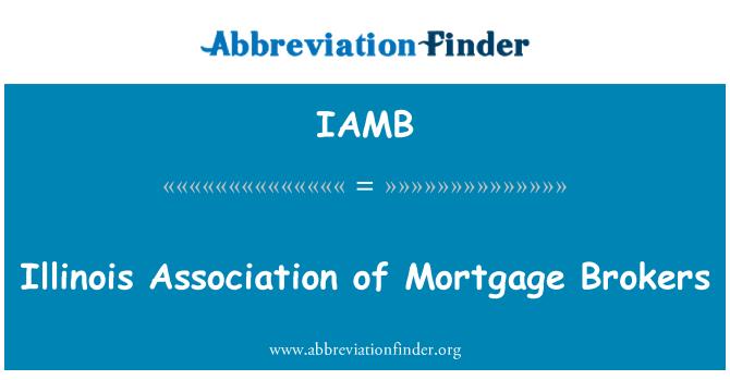 IAMB: Illinois Association of Mortgage Brokers