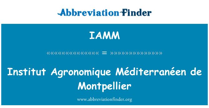 IAMM: Institut Agronomique Méditerranéen de Montpellier