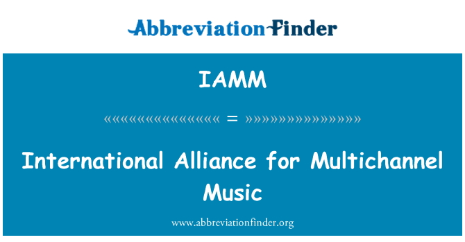IAMM: International Alliance for Multichannel Music