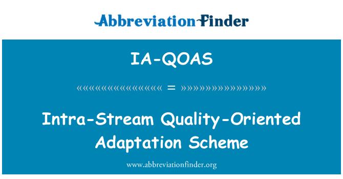 IA-QOAS: Esquema de intra-Stream adaptación orientada a la calidad