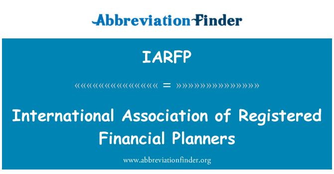 IARFP: International Association of Registered Financial Planners