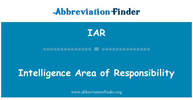 IAR: Intelligence Area of Responsibility