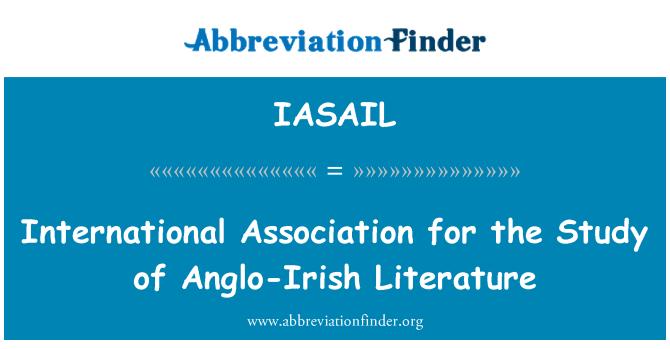 IASAIL: International Association for the Study of Anglo-Irish Literature