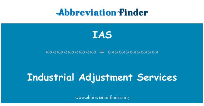 IAS: Industrial Adjustment Services
