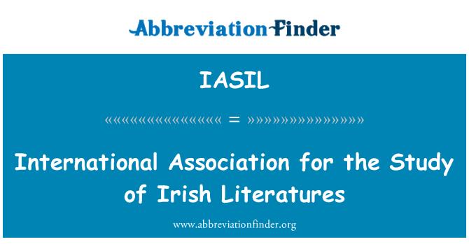 IASIL: آئرش لاٹراراس کے مطالعہ کے لئے بین الاقوامی ایسوسی ایشن