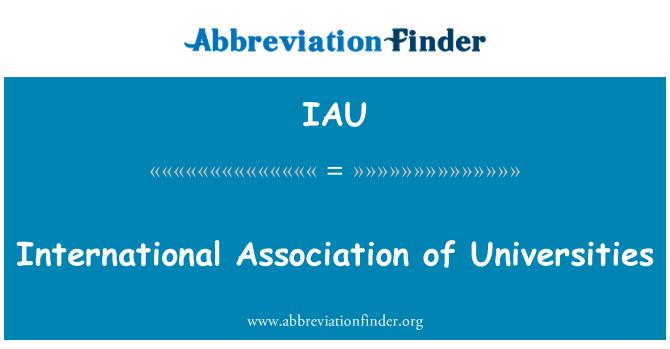 IAU: International Association of Universities